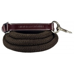 Silver Crown Cord and Leather Rope