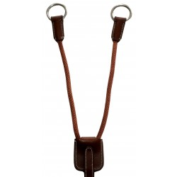 Silver Crown Leather and Cord Martingale Attachement