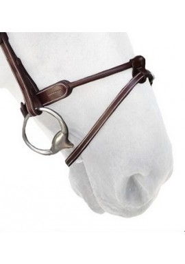 Silver Crown Round Leather Noseband